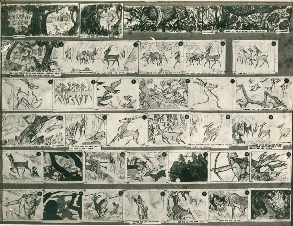 Illustration : storyboard d'un film d'animation
